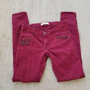 Hollister Maroon Skinny Jeans
